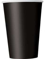 Confezione 10 bicchieri di carta neri
