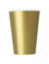 10 bicchieri cartone oro