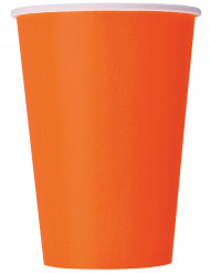 Confezione 10 bicchieri di carta arancioni