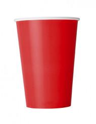 10 bicchieri rossi in cartone 355 ml