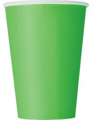 10 bicchieri in cartone verdi