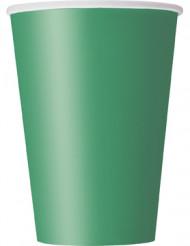 10 bicchieri cartone verde smeraldo