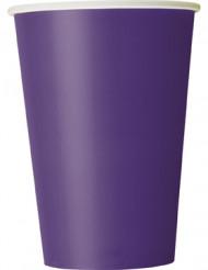 10 bicchieri di cartone viola