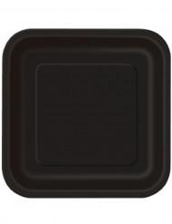 Confezione di 14 piatti di carta neri