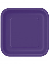 14 grandi piatti in cartone viola