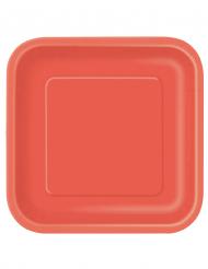14 piatti rossi cartone grandi