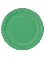 16 piatti di cartone verdi