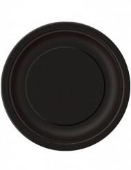 Confezione 16 piatti tondi in cartone neri