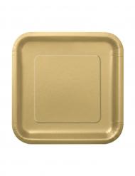 16 piattini in cartone oro