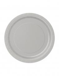 20 piattini di cartone argento