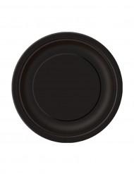 Confezione 20 piatti tondi in cartone neri