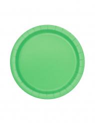 20 piattini di cartone verdi