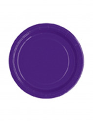20 piatti viola di carta