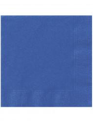 20 Tovaglioli di carta blu 33 cm