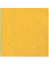20 tovaglioli di carta gialli