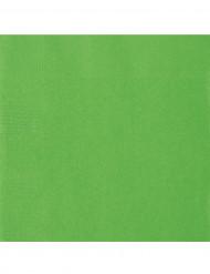 20 tovaglioli verdi 33 x 33 cm