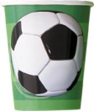 8 Bicchieri in cartone Calcio