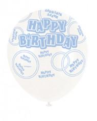 6 palloncini Happy Birthday