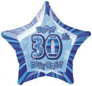 Palloncino blu a forma di stella 30 anni