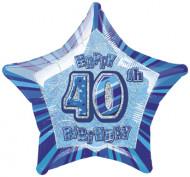Palloncino blu a forma di stella 40 anni