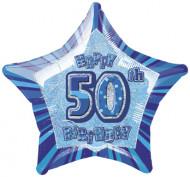 Palloncino blu a forma di stella 50 anni
