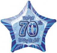 Palloncino blu a forma di stella 70 anni