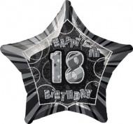 Palloncino grigio a forma di stella 18 anni