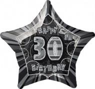 Palloncino grigio a forma di stella 30 anni
