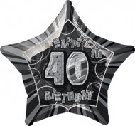 Palloncino grigio a forma di stella 40 anni