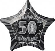 Palloncino grigio a forma di stella 50 anni