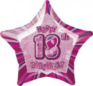 Palloncino rosa a forma di stella 18 anni