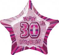 Palloncino stella rosa 30 anni