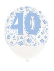 Palloncini blu 40 anni