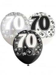 Palloncini grigio 70 anni