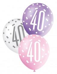 Palloncini rosa 40 anni