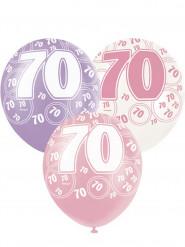 Palloncini rosa 70 anni