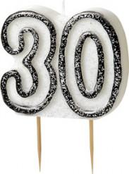 Candelina 30 anni grigia