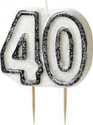 Candelina 40 anni grigia