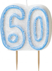 Candelina 60 anni blu
