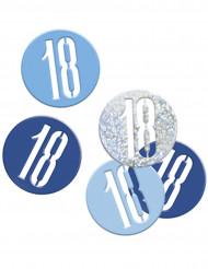 Coriandoli blu e grigi festa dei 18 anni
