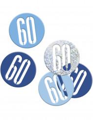 Coriandoli blu e grigi festa dei 60 anni