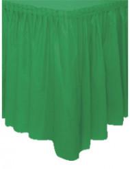 Gonna da tavolo verde smeraldo in plastica