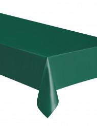 Tovaglia rettangolare in plastica verde scuro