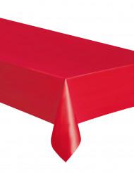 Tovaglia rettangolare in plastica rossa