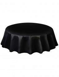 Tovaglia nera di plastica per una tavola rotonda