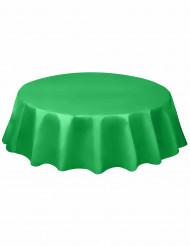 Tovaglia tonda in plastica verde smeraldo