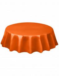 Tovaglia arancione di plastica per una tavola rotonda