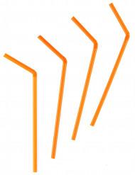 50 Cannucce di plastica arancione
