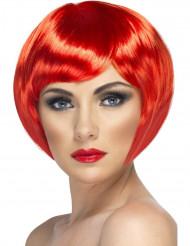 Parrucca corta rossa
