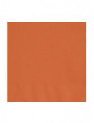 Confezione 50 tovaglioli quadrati arancioni di carta